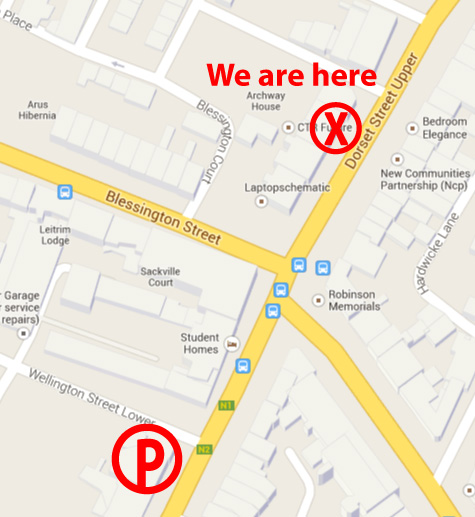 wellington st. parking map